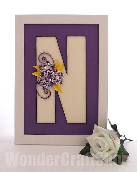 quilled n monogram
